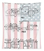 American Made Corvette Patent Tapestry