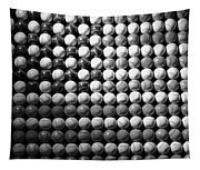 American Pastime In Black And White Tapestry