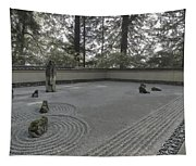 American Zen Rock And Raked Gravel Garden - Portland Oregon Tapestry