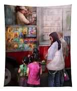Americana - Vendor - Serving Chocolate Ice Cream Tapestry