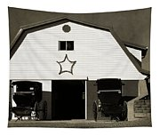 Amish Barn And Buggies Tapestry