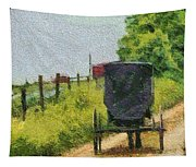 Amish Buggy In Ohio Tapestry