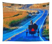 Amish Horse And Buggy In Autumn Tapestry