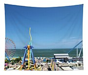 Amusement Park View Tapestry