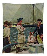 An American Privateer Taking A British Prize, Illustration From Pennsylvanias Defiance Tapestry
