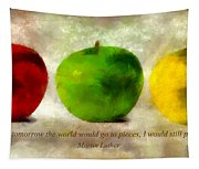 An Apple A Day With Martin Luther Tapestry