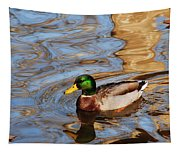 An Autumn Swim Tapestry