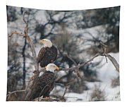 An Eagle Pair  Tapestry