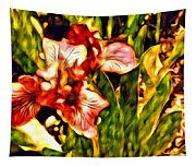 An Iris View Tapestry
