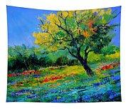 An Oak Amid Flowers In Texas Tapestry