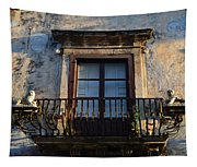 An Old Balcony In Syracuse Tapestry
