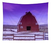 An Old Barn In The Wenas Tapestry