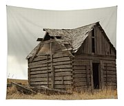 An Old Cabin In Eastern Montana Tapestry
