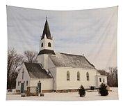 An Old Church In Palermo North Dakota Tapestry