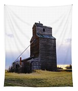 An Old Grain Elevator Off Highway Two In Montana Tapestry