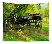 An Old Harvest Wagon Tapestry