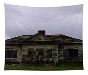 An Old Montana School House Tapestry