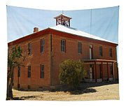An Old School In White Oaks New Mexico Tapestry