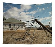 An Old School Near Miles City Montana Tapestry