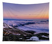An Undercast Sunset Panorama Tapestry