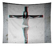 Anaglyph Asian Female Jesus Tapestry