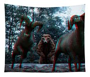 Anaglyph Wild Animals Tapestry