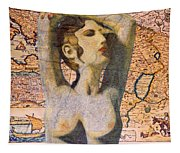Ancient Middle East Map And Aphrodite Tapestry