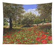 Andalucian Poppies Tapestry