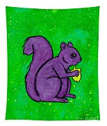 Andy's Squirrel Purple Tapestry