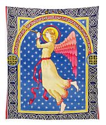 Angel Blowing Trumper Tapestry