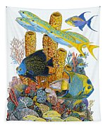 Angel Fish Reef Tapestry