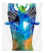 Angel Of Light - Spiritual Art Painting Tapestry