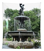 Angel Of The Waters Fountain Tapestry