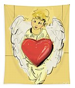 Angel Red Heart Tapestry