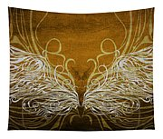 Angel Wings Gold Tapestry