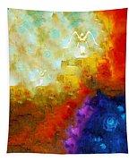 Angels Among Us - Emotive Spiritual Healing Art Tapestry