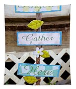 Angels Gather Here Tapestry