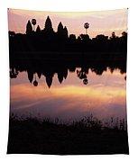 Angkor Wat Sunrise Cambodia Tapestry