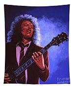 Angus Young Of Ac / Dc Tapestry