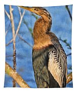 Anhinga At The Pond Tapestry