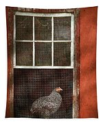 Animal - Bird - Chicken In A Window Tapestry