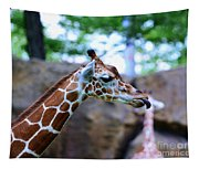 Animal - Giraffe - Sticking Out The Tounge Tapestry