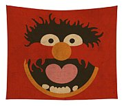 Animal Muppet Vintage Minimalistic Illustration On Worn Distressed Canvas Series No 008 Tapestry