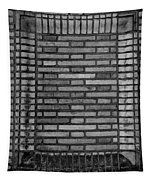 Another Brick In The Wall In Black And White Tapestry