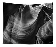 Antelope Canyon Waves Black And White Tapestry