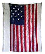 Antique American Flag Tapestry
