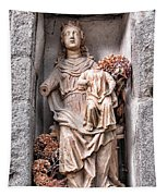 Antique Blessed Virgin Statue Tapestry