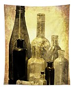Antique Bottles From The Past Tapestry