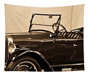 Antique Car In Sepia 1 Tapestry