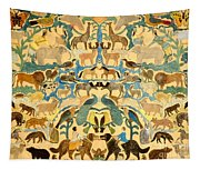 Antique Cutout Of Animals  Tapestry